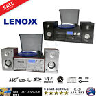 stereo system turntable vinyl record player w dual cassette recorder usb cd mp3