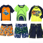 Gymboree Boys Swimwear 2T 3T 4T Rash Guard Set Swim Shark Surf Green