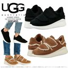 UGG Australia ASHBY Spill Seam Logo Black Suede Sneakers Shoes US 9 I LOVE SHOES