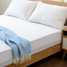 Knitted Waterproof Mattress Protector Deep Pockets Stretch Fabric Skirt Pad New image