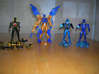 Power Rangers RPM Moto-Morph Blue Lion ranger figure &  3 jungle fury figures