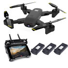 Cooligg S169 Wifi FPV Optical Flow Selfie Dual HD Camera RC Quadcopter Drone Toy