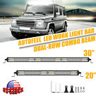 30inch 1632W CREE LED Light Bar Spot Flood Combo Truck ATV Boat Offroad + 20inch