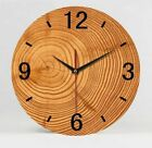 Antique Styles Wooden Bamboo Wall Clocks 1000g 35cm 9mm Sheets Clock Home Decors