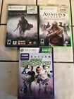XBOX 360 GAMES -- LOT OF 3 -- Assassins Creed, Shadow Of Mordor, Kinect Sports