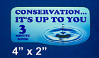 3 Minute Water Conservation Pool Rinse Decal, PCX, 3M Glue, B N B's, Motels
