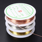 0.3/0.4/0.6/0.8mm Gold Silver Plated Copper Wire Beads Jewelry Making DIY  P