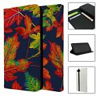 Phone Flip Wallet Case Cover Nature Leaves Print - S10540