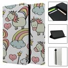 Phone Flip Wallet Case Cover Fantasy Unicorn Pattern - S8861
