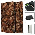 Phone Flip Wallet Case Cover Nature Leaves Print - S10537