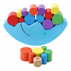 Kids Moon Balancing Wooden Blocks Stacking Toy Baby Early Educational Gift HS