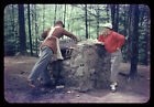 Orig 1950's 35mm RB Slide WIFE SUPERVISING HER HUSBAND'S OUTDOOR COOKING @ CAMP