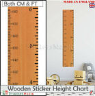 Height Ruler Giant Wooden Print Growth Height Chart Wall Stickers Decal UK