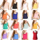 Women Casual Chiffon Shirt Blouse Sleeveless Vest Tank Top T-Shirt Summer NEW