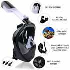Mask Snorkel Anti-Fog Full-Faced Swimming, Breath, Diving, Action Camera Mount