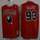Bape & Chicago Bulls #93 Snoop Dogg Red Basketball Jersey Size: S - XXL on eBay