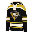 Pittsburgh Penguins 47 Brand Black Embroidered Lacer Hooded Jersey Sweatshirt
