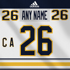 Buffalo Sabres NHL Adidas White Jersey Any Name Any Number Pro Lettering Kit