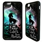 Keep calm and love horses phrase case cover for iphone 5 6 7 8 plus X XS Max XR