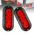 """2-pack 6"""" 10 LED Brake Stop Turn Signal Tail Flash Light for Truck Tra"""