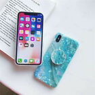 Blue Marble Phone Case Cover Shell For iPhone Phones with POP Up Holder Case UK#