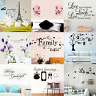 Wall Art Sticker Removable Quote Flower Decal Mural Home Room DIY Decoration
