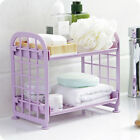 Внешний вид - Desktop Makeup Organizer Display Shelf Double Layer Rack for Kitchen Bathroom RD