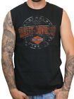 Harley-Davidson Mens Plate Round B&S Black Sleeveless Muscle Shirt image