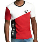 True Religion Mens Mesh Color Blocked Graphic Tee T Shirt