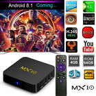 MX10 Android 8.1 WIFI Smart TV Box 4G+32GB HDMI WIFI 4K 3D Media Player + Remote