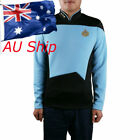 Star Trek TNG Shirt Starfleet Command Uniform Cosplay Star Trek TNG Blue Uniform on eBay