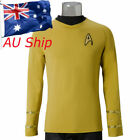 Star Trek TOS Captain Kirk Shirt Uniform Yellow Costume Cosplay Men's Shirt New on eBay