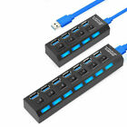 7 Ports Hub USB 2.0 Adapter Splitter Socket High Speed with Switch for Computer