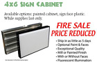 """Closeout 72x48"""" Lighted Sign Cabinet for Outdoor"""