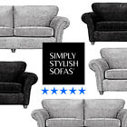 PALLADIO Fabric Sofas Deep-Pile Chenille 4 + 3 + 2 Seaters + Cuddle Chairs