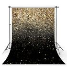 Glitter Black Gold Dots Bokeh Photography Backdrop Background Party Events