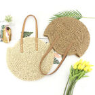 Women Girls Rattan Straw Bag Woven Round Handbag Crossbody Beach Summer Bags
