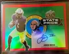 2017 Leaf Metal John Ross RED STATE PRIDE Refractor SSP 1/3 ON CARD Auto RC