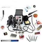 KIT 2 in 1 Equipment Rework Station Hot Air Gun / Solder Iron / Heating Element