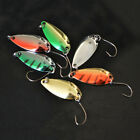 Fish Angling Kit Set Metal Fishing Lures Trout Spoon Hooks Bass Baits Sequins