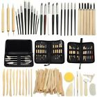 Pro Wood Clay Sculpting Set Wax Carving Pottery Tools Shapers Polymer Modeling ! image