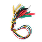 Double-ended Test Wires Crocodile Leads 10pcs Set Alligator Jumper High Quality