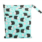 Wet Bag Baby Cloth Diaper Nappy Bag Double Zippers Pocket Hedgehog