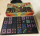 1940's Dominoes Double Nine Halsam Set Dragons nice shape multicolored