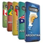 STUFF4 Matte Tough Phone Case for Samsung Galaxy S10 Plus /Flag Nations