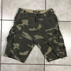 Plugg Men Green Military Style Cargo Shorts Size 30 (C3)