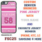 Denver Broncos Pink Football Jersey Phone Case Cover for iPhone Samsung etc. $23.98 USD on eBay