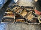 Lot of 4 Chicago Metallic 4-Slot Bread Loaf Bakery Baking Oven Cooking Pans