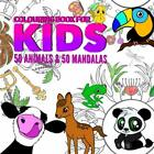 COLOURING BOOK FOR KIDS ANIMALS & MANDALAS AGES 4-8: THIS By Mh Michael NEW