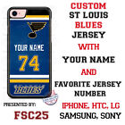 St Louis Blues Personalized Hockey Jersey Phone Case Cover for iPhone etc. $17.98 USD on eBay